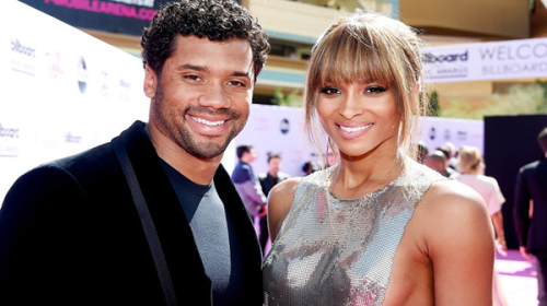 We Are The Wilsons! Ciara and Russel Share First Wedding Photo