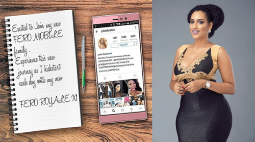 Juliet Ibrahim Joins Fero Mobile As It's Brand Ambassador
