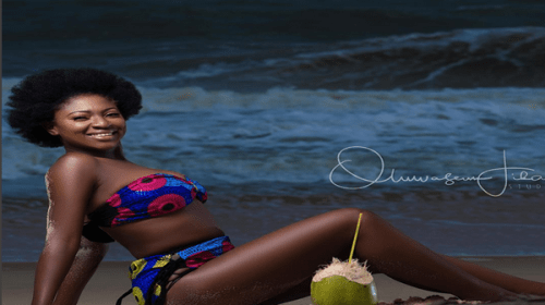 Actress Yvonne Jegede Releases Sexy Ankara Bikini Photos To Celebrate 33rd Birthday