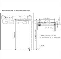 Technische Zeichnunng Montageanleitung Edelstahl - Glas-Shop24
