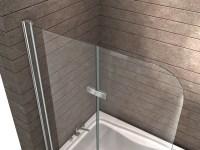 Duschtrennwand BREASE 120 x 140 (Badewanne) - Glasdeals