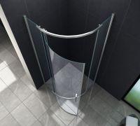 Duschkabine PILO 90 x 90 x 195 cm (Viertelkreis) - Glasdeals