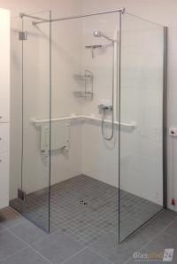 Ebenerdige Dusche bauen aus Glas | GLASPROFI24
