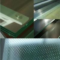 Slip-resistant glass for walkway,high quality tempered ...