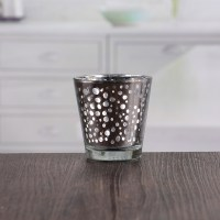 Wholesale cheap heat resistant glass candle holder