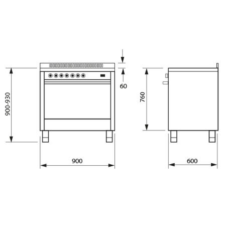 IT965PROEI2 90cm Stainless Steel cooker with a multifunction