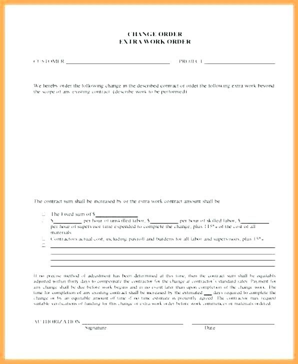 Change Request form Example - Glendale Community Document Template