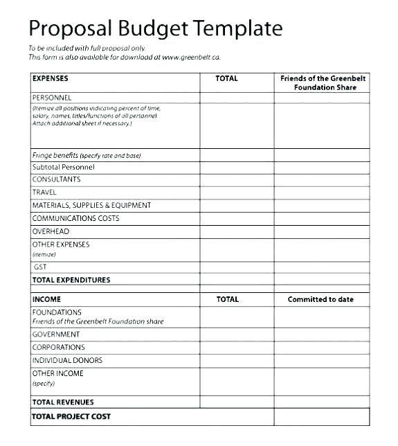 IT Project Cost Estimate Template Excel - Glendale Community