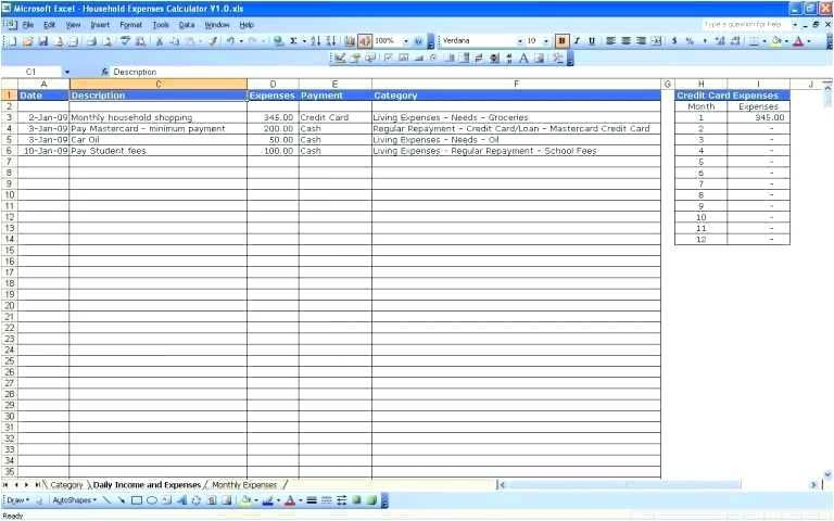 Medical Expense Spreadsheet Templates - Glendale Community Document