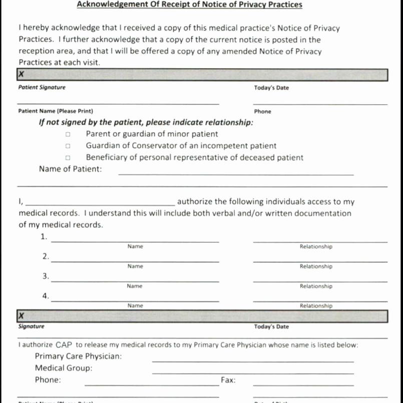 Patient Intake form Template Word - Glendale Community Document Template