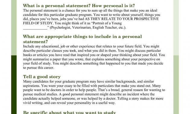 personal statement ending Archives - Glendale Community Document