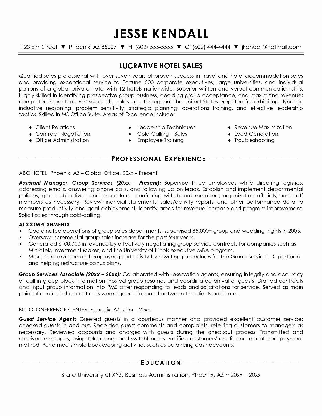 resume statement sales