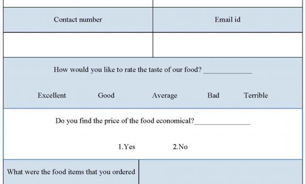 Simple Survey form Template - Glendale Community Document Template