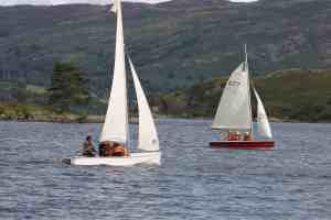 sailing dinghies on ullswater