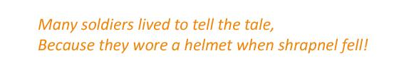 Rhyming Couplet Brodie Helmet