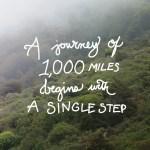 1,000 mile journey