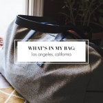 whats in my bag los angeles