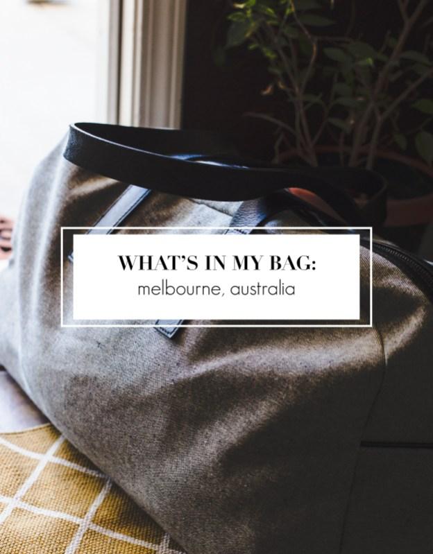 what's in my bag australia