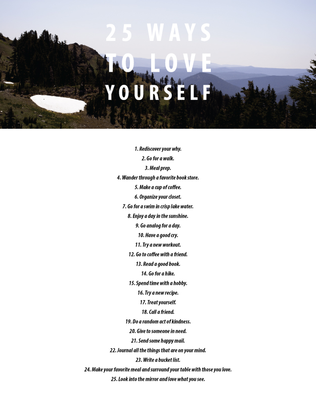 25 ways to love yourself