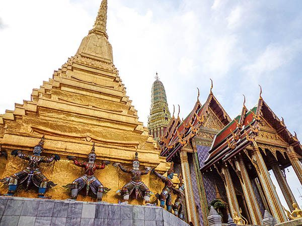Bangkok's glittering and golden Grand Palace, Thailand