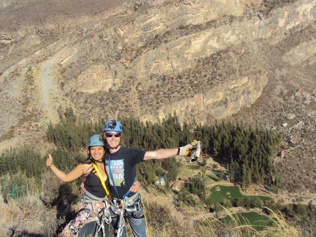 Ziplining in Colca Valley, Peru