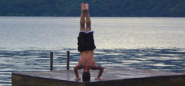 yoga on a lake cover