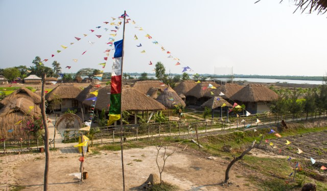 The view from my hammock over the eco village
