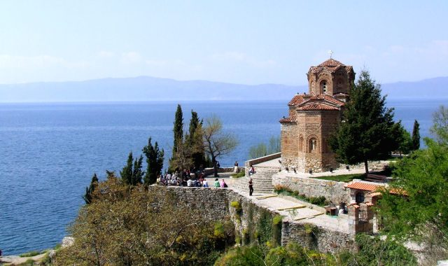 Lake Ohrid in Macedonia