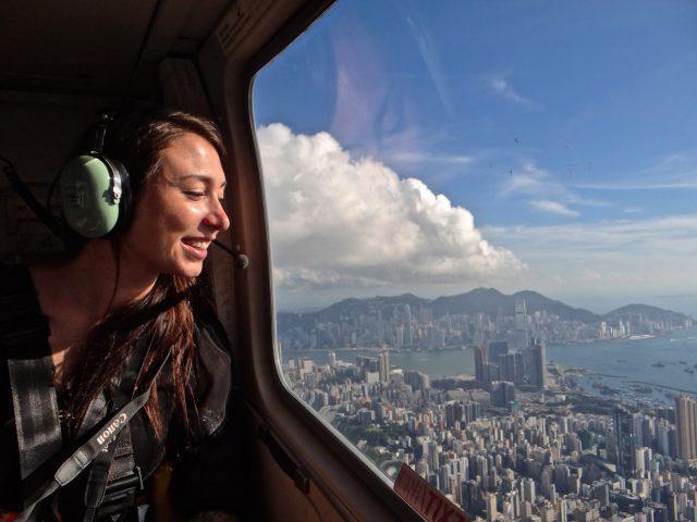 sarah hong kong helicopter