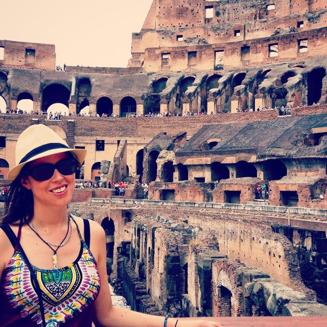 At the Colosseum in Rome with Liv Italy Tours