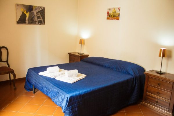 The main bedroom in our Rome apartment
