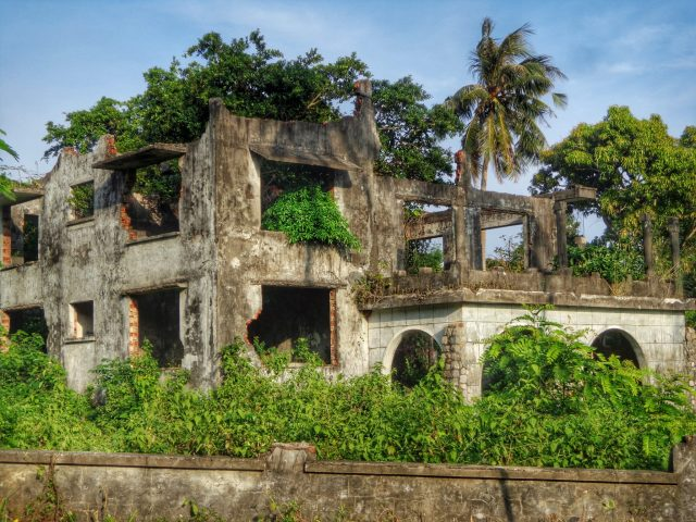 ruined french villas in kep in cambodia