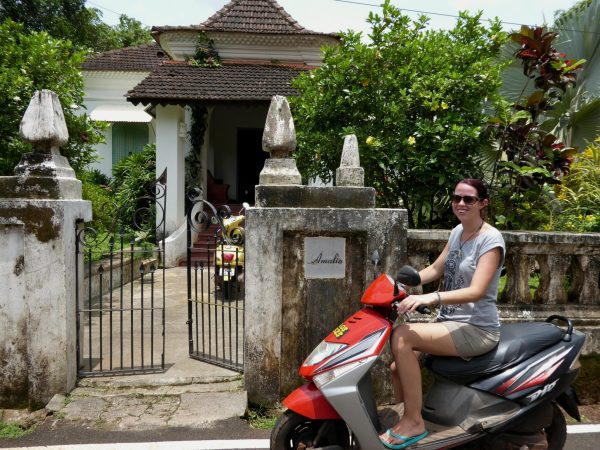 Renting a scooter in Goa is the best way to get around.