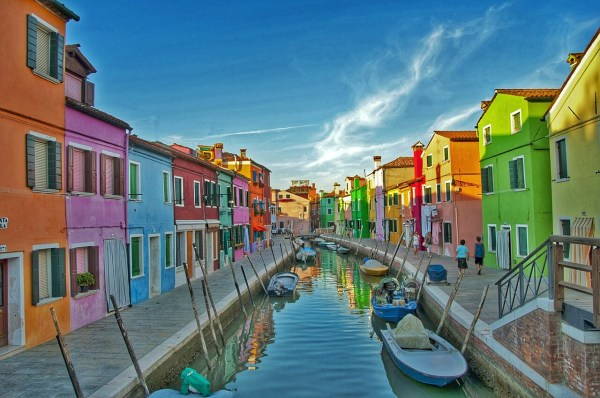 Colourful Burano Island just outside Venice. I know it doesn't look real does it!