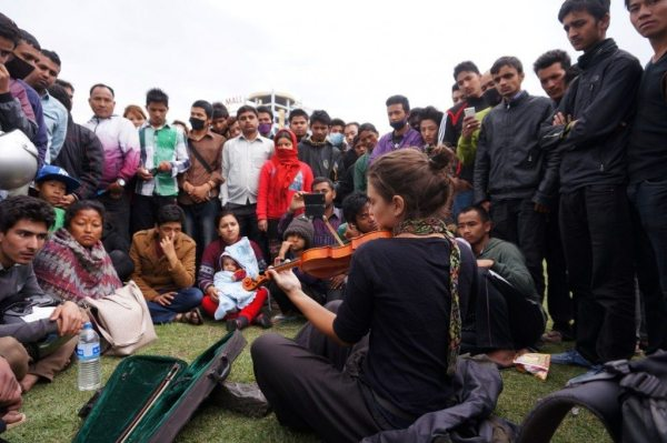 Playing in Nepal, 30 minutes after the earthquake