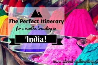 The Perfect Itinerary for 3 months traveling in India