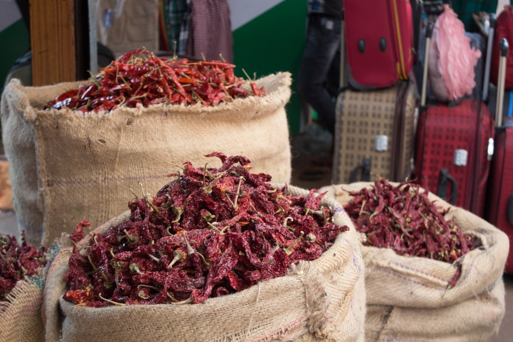 chillies in the market