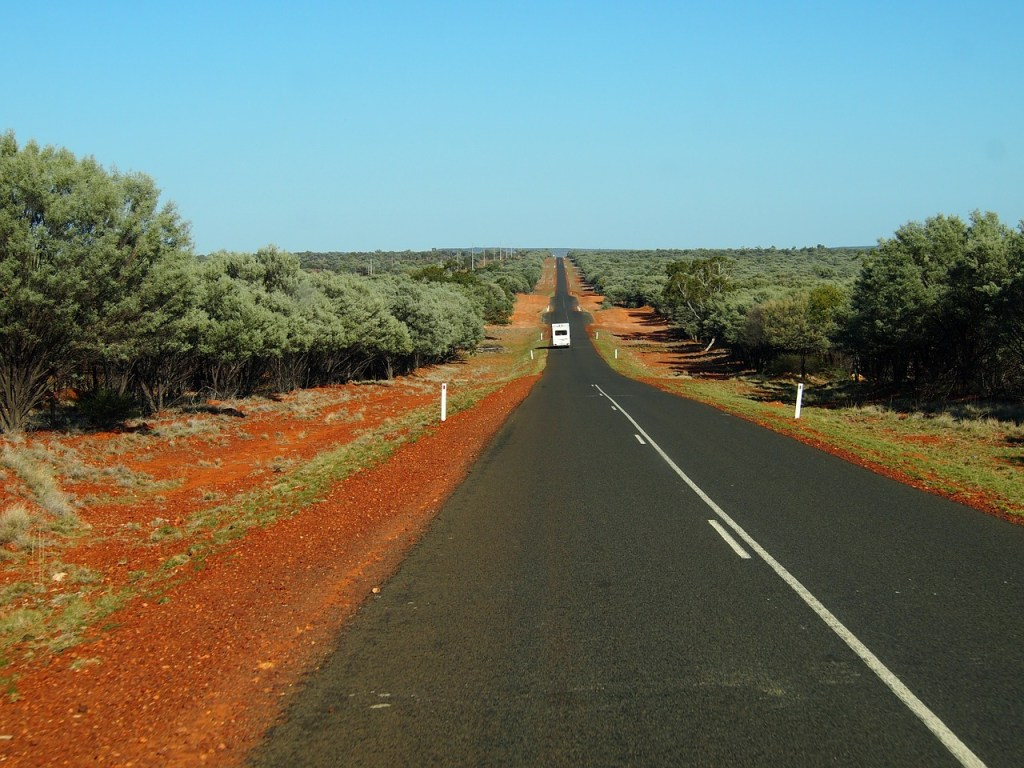 driving across australia outback