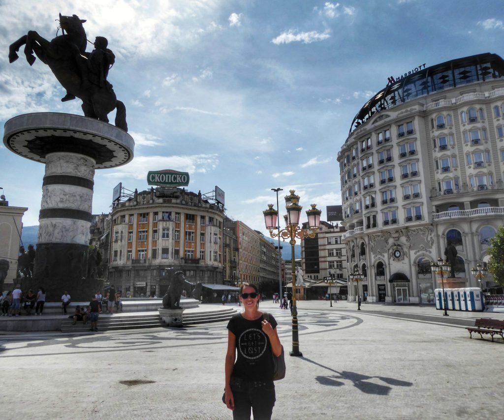 Macedonia Square in Skopje