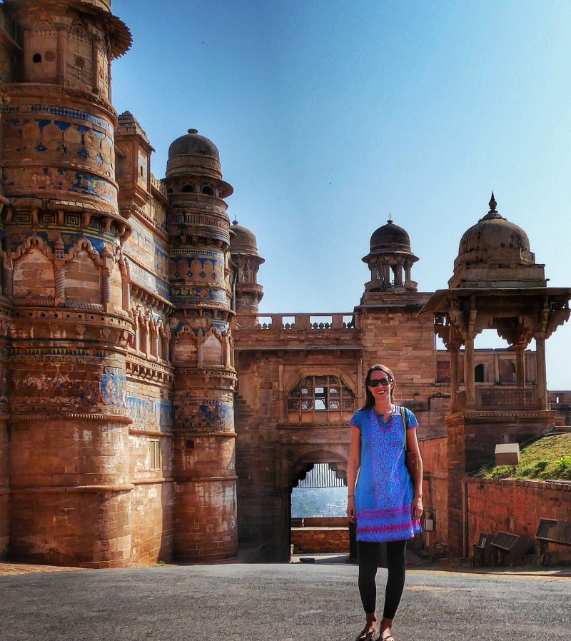 Anna at Gwalior Fort