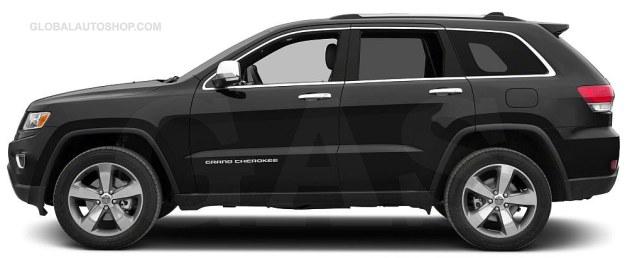 Jeep Grand Cherokee Chrome Body Side Door Molding Trim