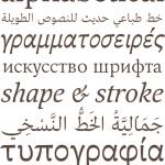 Designing a multi-script typeface