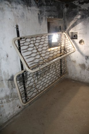 Observation post bunks for soldiers to sleep while off duty.