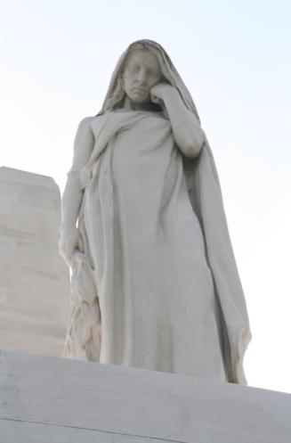 A statue representing Mother Canada