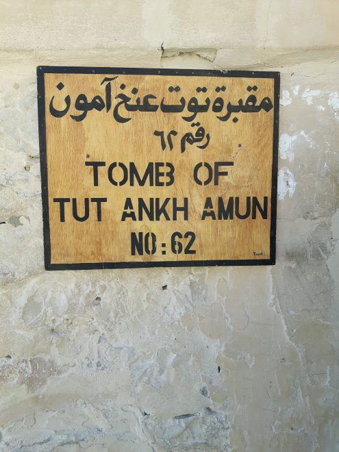 Sign outside the tomb