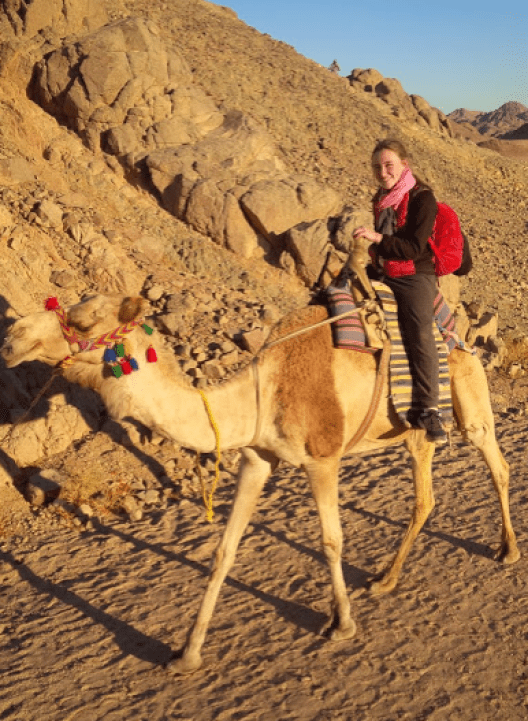 Riding the camels