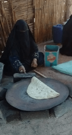 Cooking the bread
