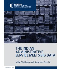 Carnegie Endowment for International Peace published its report 'The Indian Administrative Service Meets Big Data' earlier this month.