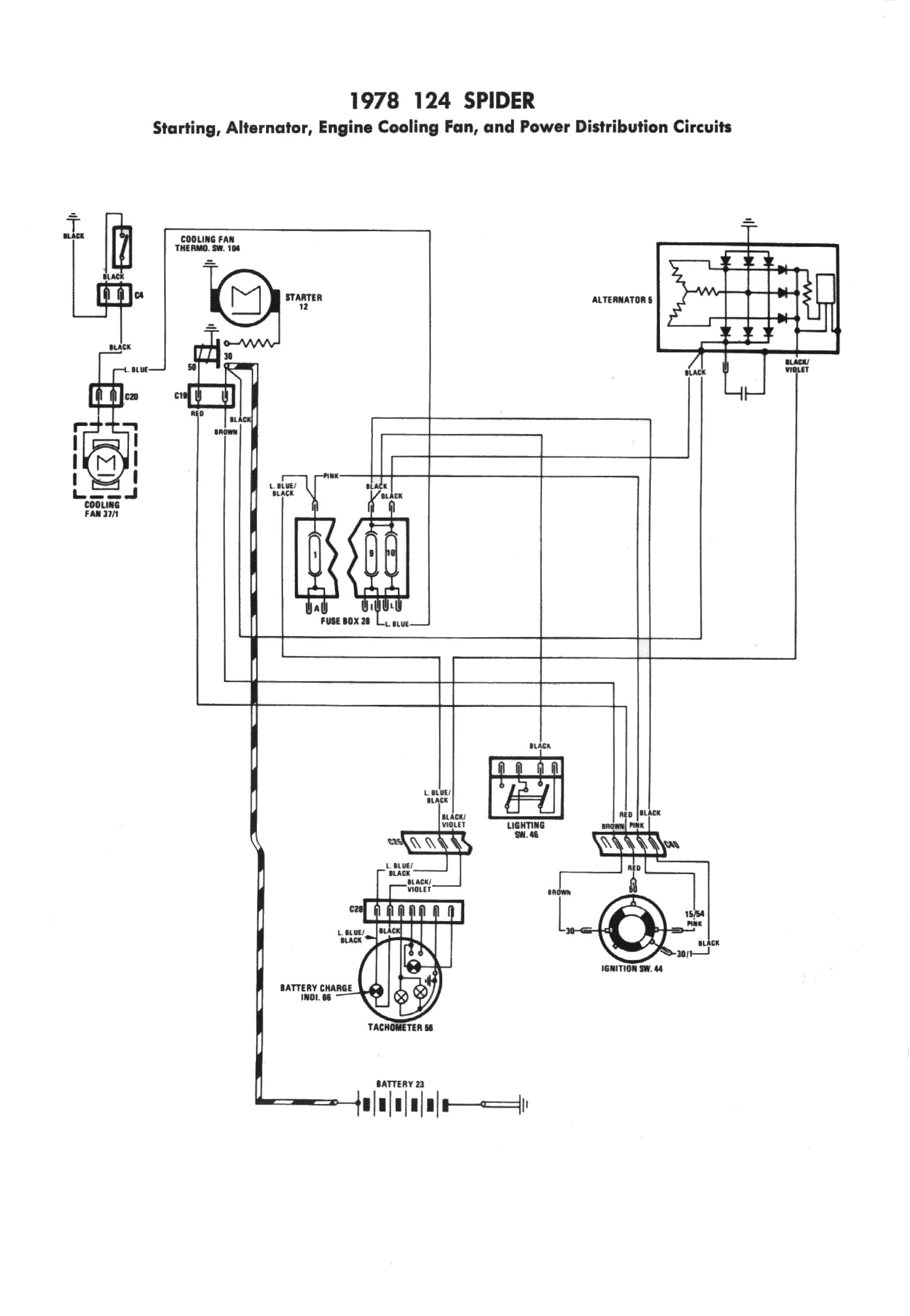 engine cooling fan diagram