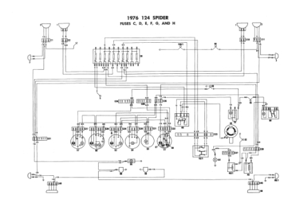 Fiat 124 Spider - electrical schemes
